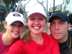 My sister Taylor, myself, and Andy at last years Get to the Green race